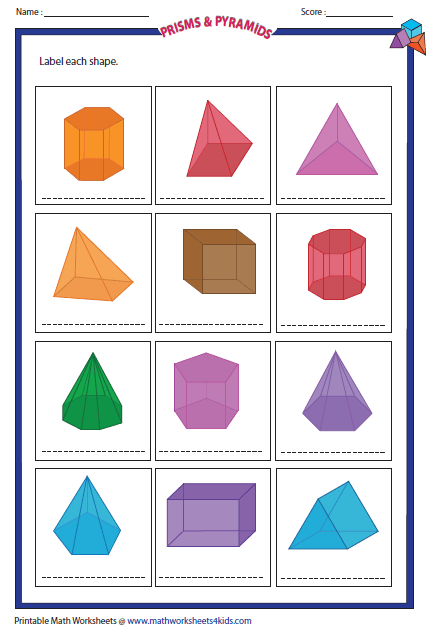Faces Edges Vertices Chart And Labeled