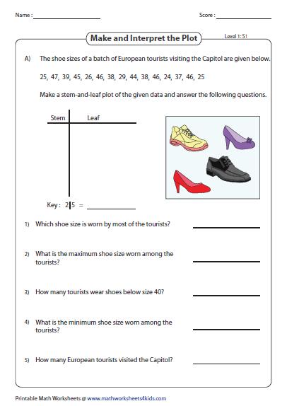 stem and leaf diagram worksheet nissan navara d40 2010 wiring plot worksheets