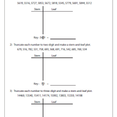 Stem And Leaf Plot Diagram Entity Relationship Visio 2013 Worksheets