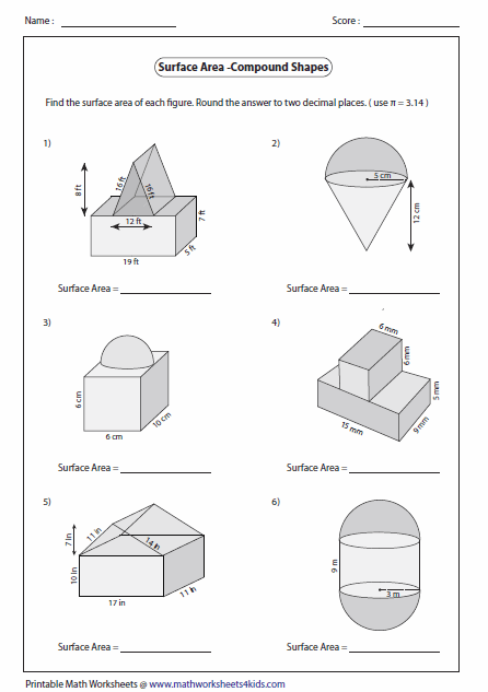 All Worksheets » Perimeter Of Complex Shapes Worksheets