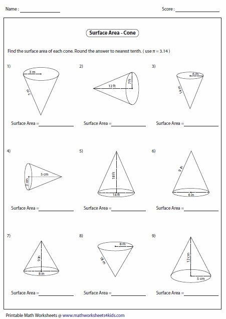Printables. Surface Area Worksheet. Mywcct Thousands of