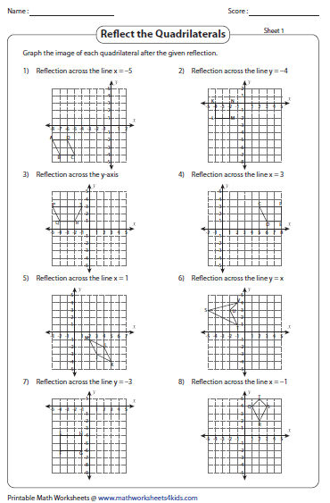 Printables. Geometry Reflections Worksheet