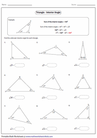 Triangles Worksheets