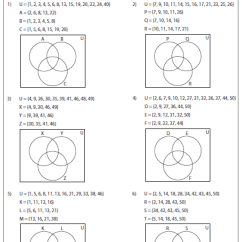 Solving Problems Using Venn Diagrams Worksheets Wiring Diagram Power Window Switch All » - Printable Guide ...