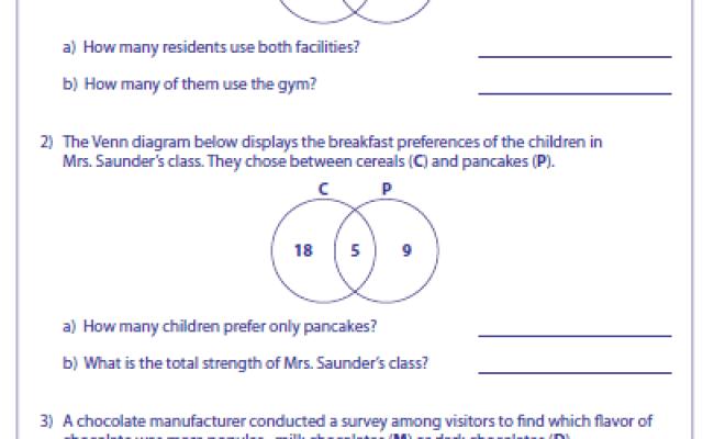 Venn Diagram Word Problems Worksheets Free Diagram For Cute766