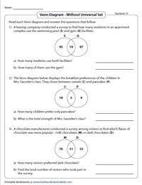 word problems involving venn diagram 4 pin trailer connector wiring worksheets two sets standard without universal set