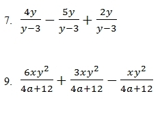 Adding and Subtracting Rational Expressions Worksheet (pdf
