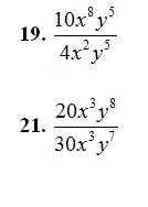 Multiplying and Dividing Monimials Worksheet (pdf) and