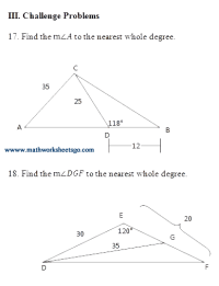 The Law Of Sines Worksheet Answers - Keywordsfind.com