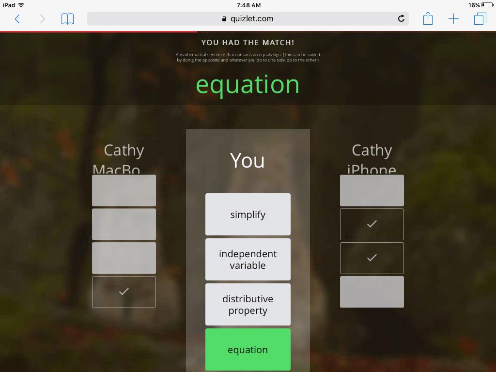 Quiz 2 Multi Step Equations Quizlet