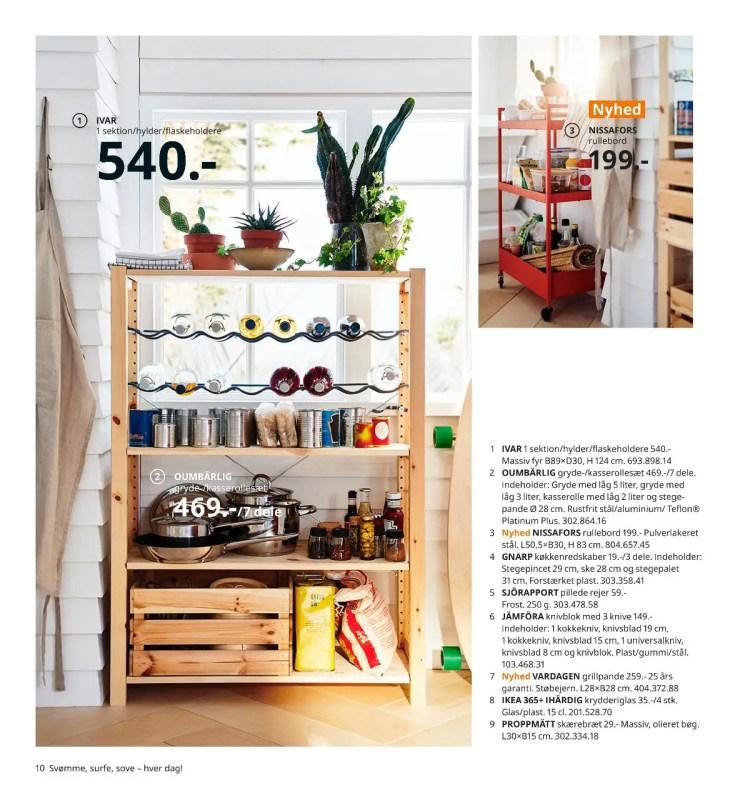 σύστημα αποθήκευσης køkkengrej τρόλει pande spatel vase ikea 2021 katalog side 10