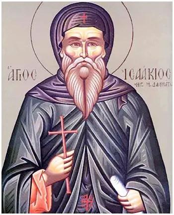 Άγιος Ισαάκιος ο Ομολογητής, ο ηγούμενος της Μονής Δαλμάτων