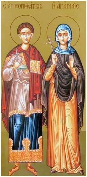 Άγιος Βονιφάτιος και Αγία Αγλαΐα