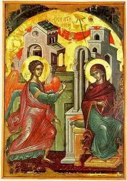 Αποτέλεσμα εικόνας για ευαγγελισμος θεοτοκου