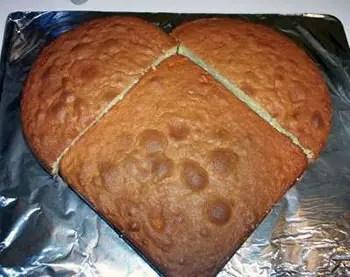 Κέικ καρδιά χωρίς φόρμα καρδιάς