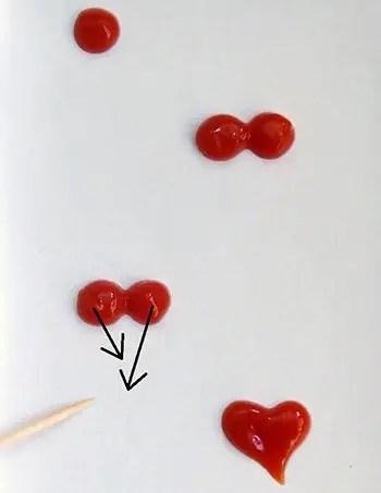 Καρδιές από κέτσαπ