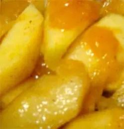 Επικάλυψη μήλο και ροδάκινο