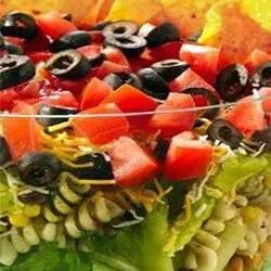 Μεξικάνικη δροσερή σαλάτα ζυμαρικών