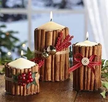 Χριστουγεννιάτικο κερί για δώρο και για το σπίτι