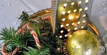 Πρωτότυπη και οικονομική χριστουγεννιάτικη σύνθεση