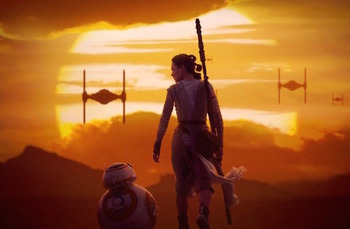 star wars 2015 rey bb8