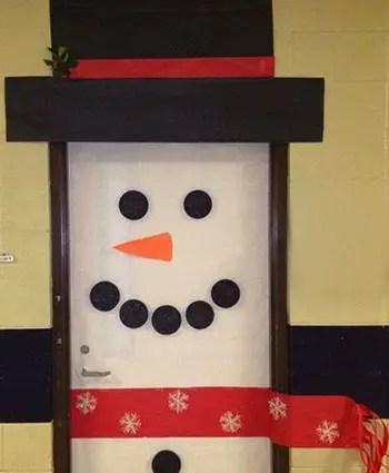 Χιονάνθρωπος στην πόρτα