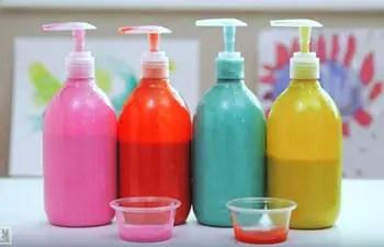 Χρώματα, σε υγρή μορφή, ασφαλή