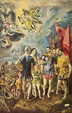 Το μαρτύριο του Αγίου Μαυρικίου - Πίνακας του El Greco