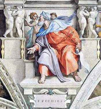 Προφήτης Ιεζεκιήλ του Μιχαήλ Άγγελου