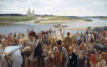 Easter Procession - Πασχαλινή πομπή - Illarion Michajlowitsch Prjanischnikow