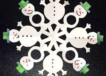 Στρογγυλή γιρλάντα με χιονάνθρωπους
