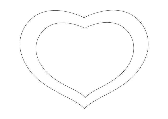 Καρδιά διπλή πατρόν