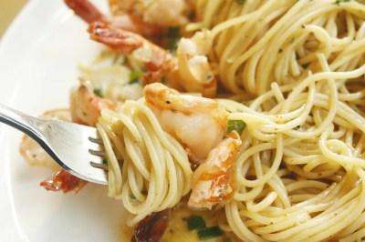 spaghetti shrimps 1564998950 - Σπαγγέτι με σάλτσα γαρίδες με βότκα, της Βιβής