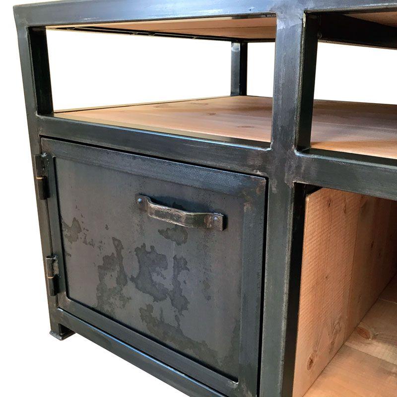 meuble tv style industriel metal et