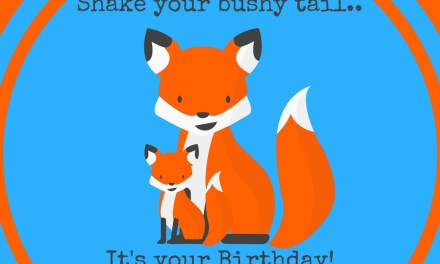 Fox Birthday Party Free Printables