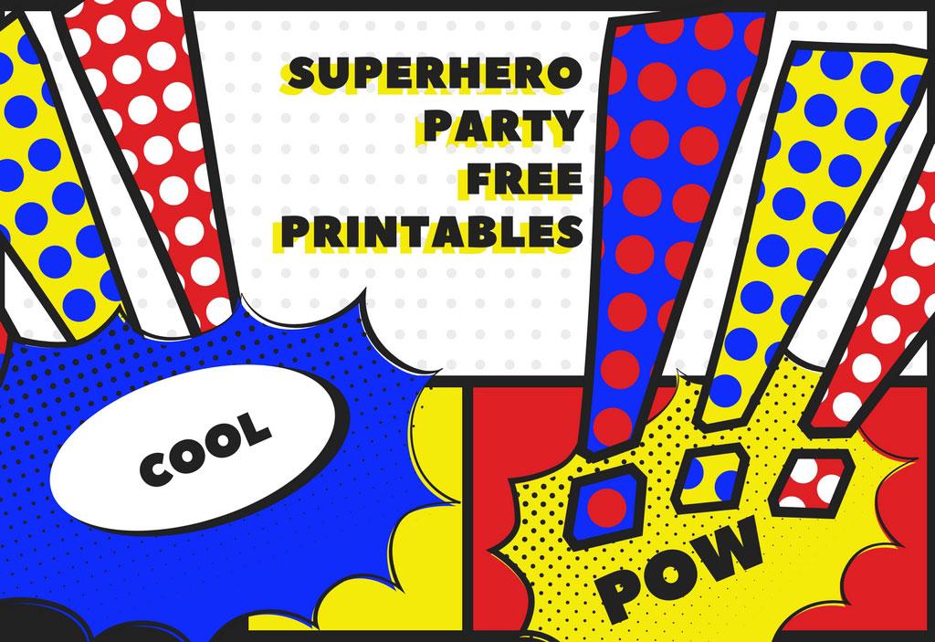 Superhero Free Party Printables