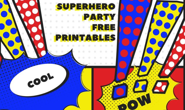 Superhero Free Party Printables