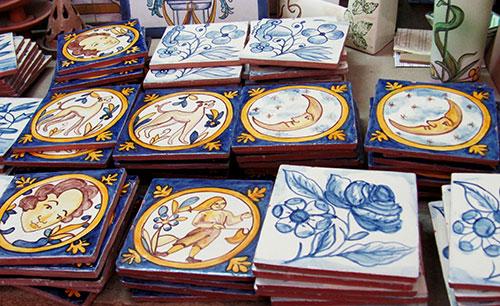 Zcalo con azulejos rsticos  Cermica Artstica  Matilde
