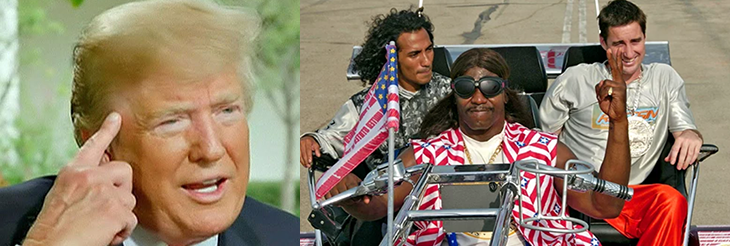Idiocracy: Orange Dumbass And President Camacho