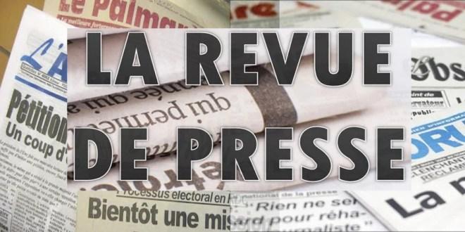 Revue de presse du mercredi  31 janvier 2018