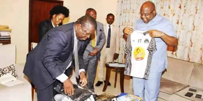 Le manager du Tout-Puissant Mazembe, Frédéric Kitengie Kikumba lors de la rencontre avec le Chef de l' État, Félix-Antoine Tshisekedi