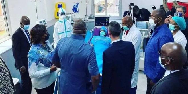Président Tshisekedi visite les malades de covid-19