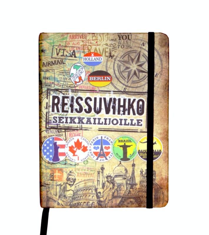 matkapäiväkirja muistikirja