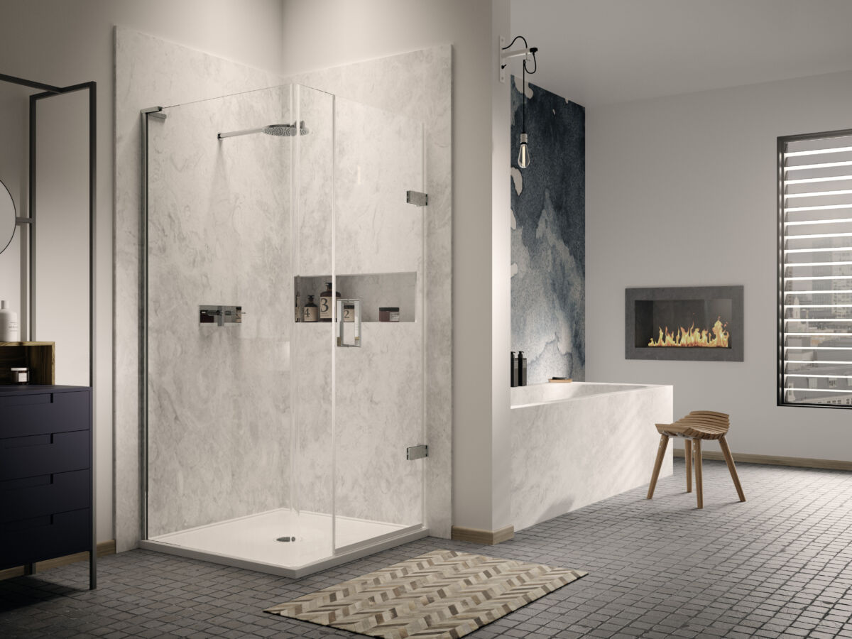 EauZone Plus Radius20 Wet Room Panel  Matki