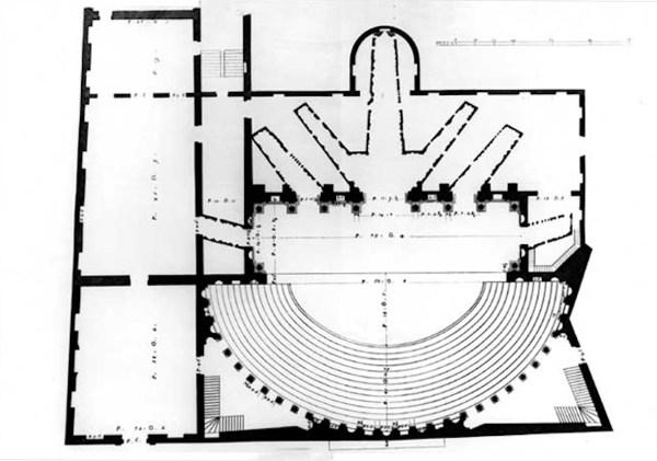 图4_奥林匹克剧场平面_Teatro_Olimpico_pianta_Bertotti_Scamozzi_1776