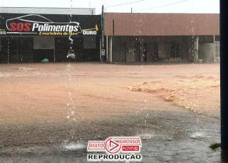 Chuvas provocam alagamentos em Alta Floresta
