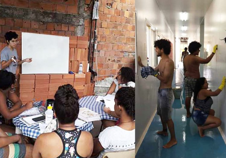 Unifavela - sala antiga e sala nova - Fotos: arquivo pessoal