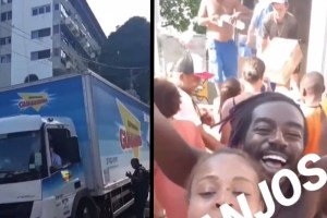 Ivete manda caminhão com alimentos para Vidigal e emociona: vídeo 74
