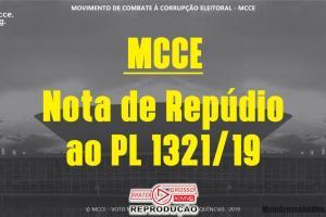 MCCE lança Nota de Repúdio contra PL relâmpago aprovado pra manter cargos em partidos nas mãos dos dirigentes 58