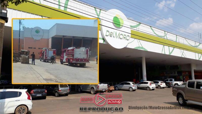VÍDEO | Incêndio de grandes proporções destruiu depósito de alimentos do Del Moro em Sorriso 66